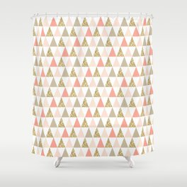 Graphic and Glitz in Coral Reef Shower Curtain