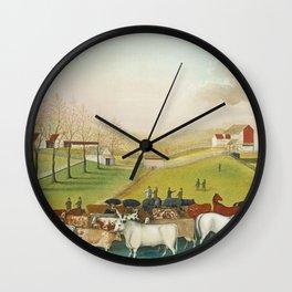 Edward Hicks - The Cornell Farm Wall Clock