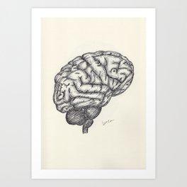 BALLPEN BRAIN 2 Art Print