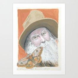Walt Whitman and a Wild Critter Art Print