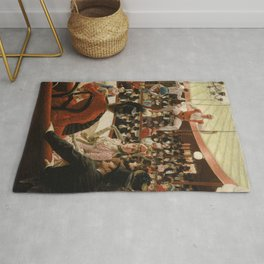 James Tissot - Women of Paris the circus lover Rug