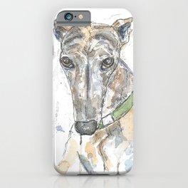 Brindle dog. iPhone Case
