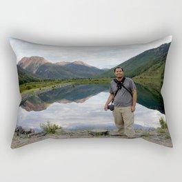Photographer on Crystal Lake Rectangular Pillow