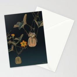 Gourd Vine and Chipmunk Stationery Cards