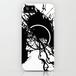 Form Out Of Chaos - Black and white conceptual abstract iPhone Case