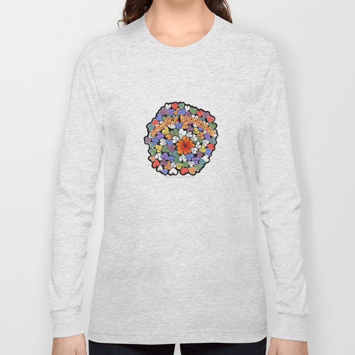 Zentangle Practice Happiness Illustration Long Sleeve T-shirt