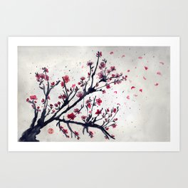 Sakura Sakura watercolour Art Print