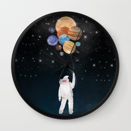 balloon universe Wall Clock