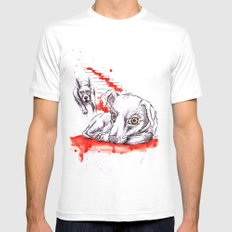 Dogs Mens Fitted Tee MEDIUM White