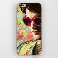 darren criss iPhone & iPod Skins featuring Colourful Darren Criss by Ines92