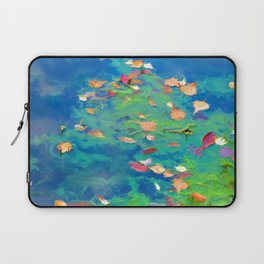 Autumn leaves on water 3 Laptop Sleeve