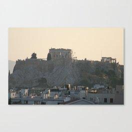 Parthenon Under Construction Canvas Print