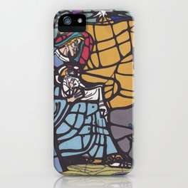 Stained Glass - Nativity iPhone Case