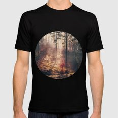 Little Red Tree Mens Fitted Tee Black SMALL