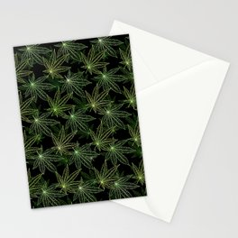 Cannabis Leaf (Black Glow) - Camo Stationery Cards