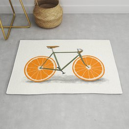 Zest (Orange Wheels) Rug