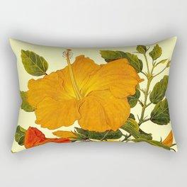 Hibiscus ; Beautiful Flower Print Rectangular Pillow