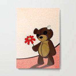Sweet Teddy Metal Print