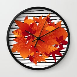 Autumn came Wall Clock