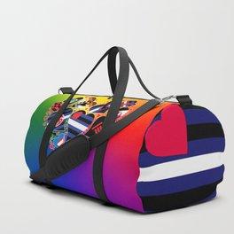BDSM Pride Heart - Kinky Community Flags Duffle Bag