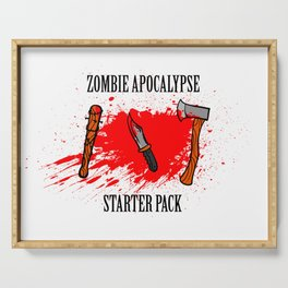 Zombie apocalypse - starter pack Serving Tray