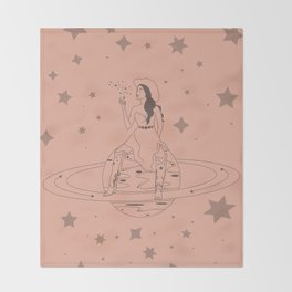 Janet From Another Planet Throw Blanket