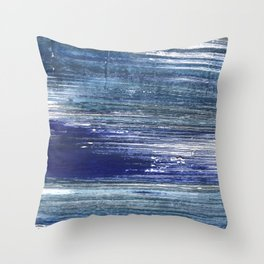 Blue painting Throw Pillow