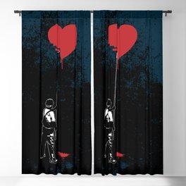 Heart Painter Graffiti Love Blackout Curtain