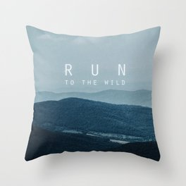 Run to the wild Throw Pillow
