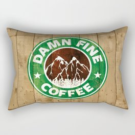 Damn Fine Coffee Rectangular Pillow
