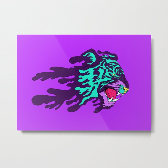 Mighty Tiger Metal Print