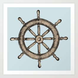 Blue Nautical Print Art Print