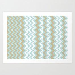 Chevrons and Dots Art Print