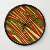 xmas Wall Clocks featuring Lov Xmas by Danny Ivan