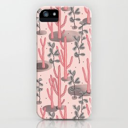 Pink tropical garden iPhone Case