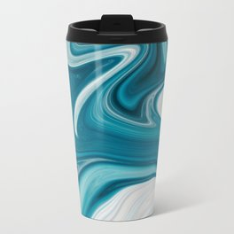 Abstract painting blue Travel Mug