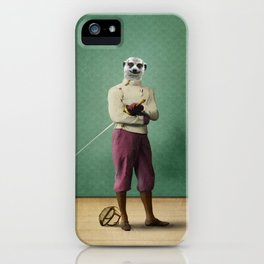 Milton Meerkat: Fencing Master iPhone Case