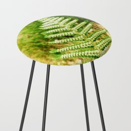 Green Fern Counter Stool