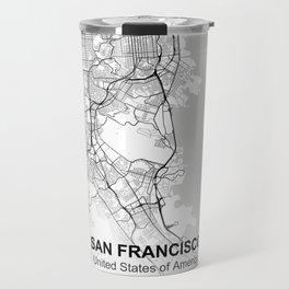 san francisco city map white Travel Mug