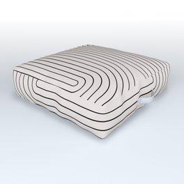 Minimal Line Curvature I Outdoor Floor Cushion