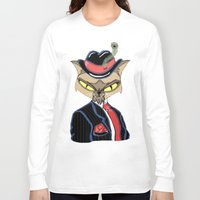 gangster Long Sleeve T-shirts featuring Gangster Kitty by J&C Creations