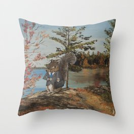 Shit. Late Again. Throw Pillow