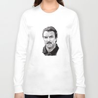 tom hiddleston Long Sleeve T-shirts featuring Tom by Rik Reimert