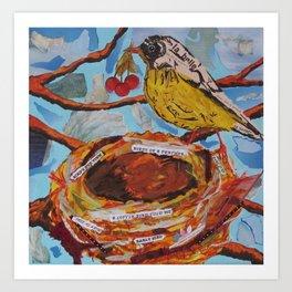 La Belle Bird & Nest Art Print