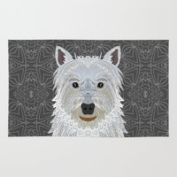 westie Area & Throw Rugs featuring Westie by ArtLovePassion