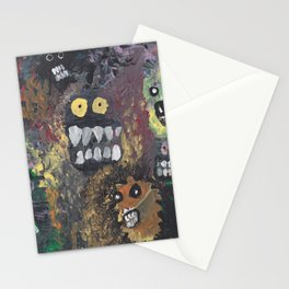 Acrylic Art Monsters Stationery Cards