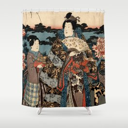 Garden of the Prosperous Blooms Triptych 2 Shower Curtain