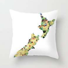 Map of New Zealand  Throw Pillow