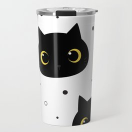 black cats pattern Travel Mug