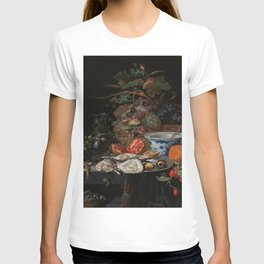 Still life with fruits, oysters and a porcelain bowl, Abraham Mignon (1660 - 1679) T-shirt
